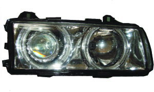 BMW E36 4D '91-'00 HEAD LAMP(CRYSTAL CLEAR)