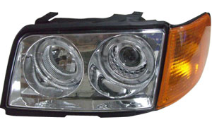 AUDI 100 '90-'94 HEAD LAMP AND CORNER LAMP (CRYSTAL)