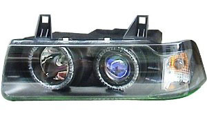 BMW E36 HEAD LAMP WITH CORNER LAMP(CRYSTAL BLACK)