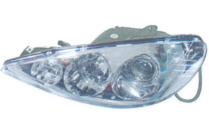 PEUGEOT 206 '98  HEAD LAMP(CRYSTAL RIM) WHITE