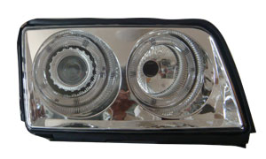 AUDI 100 '90-'94 HEAD LAMP (CRYSTAL WHITE)RIM