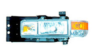 Crystal front light with iron support Applicable to Hebei Changan Shengli6608 NISSAN COACH