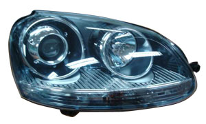 VW JETTA '05/GOLF V'R32 05-'07 HEAD LAMP(RIM)