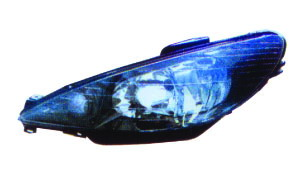 206 '98-'05 HEAD LAMP(CRYSTAL,BLACK)